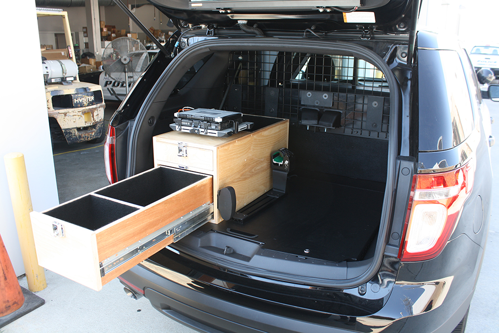 Ford Explorer Police Interceptor Design Storage Solutions