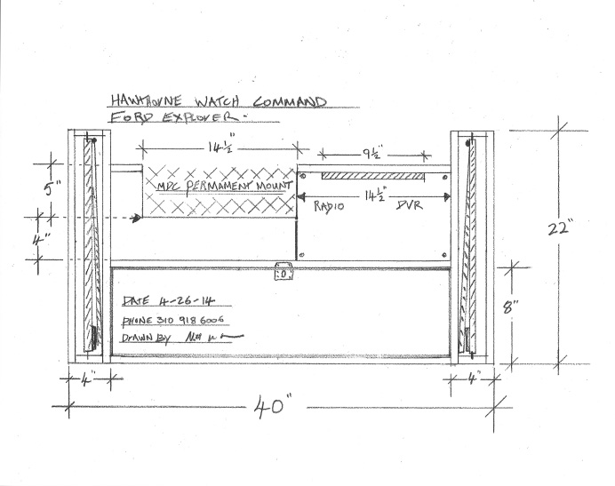 draft drawing of cabinet