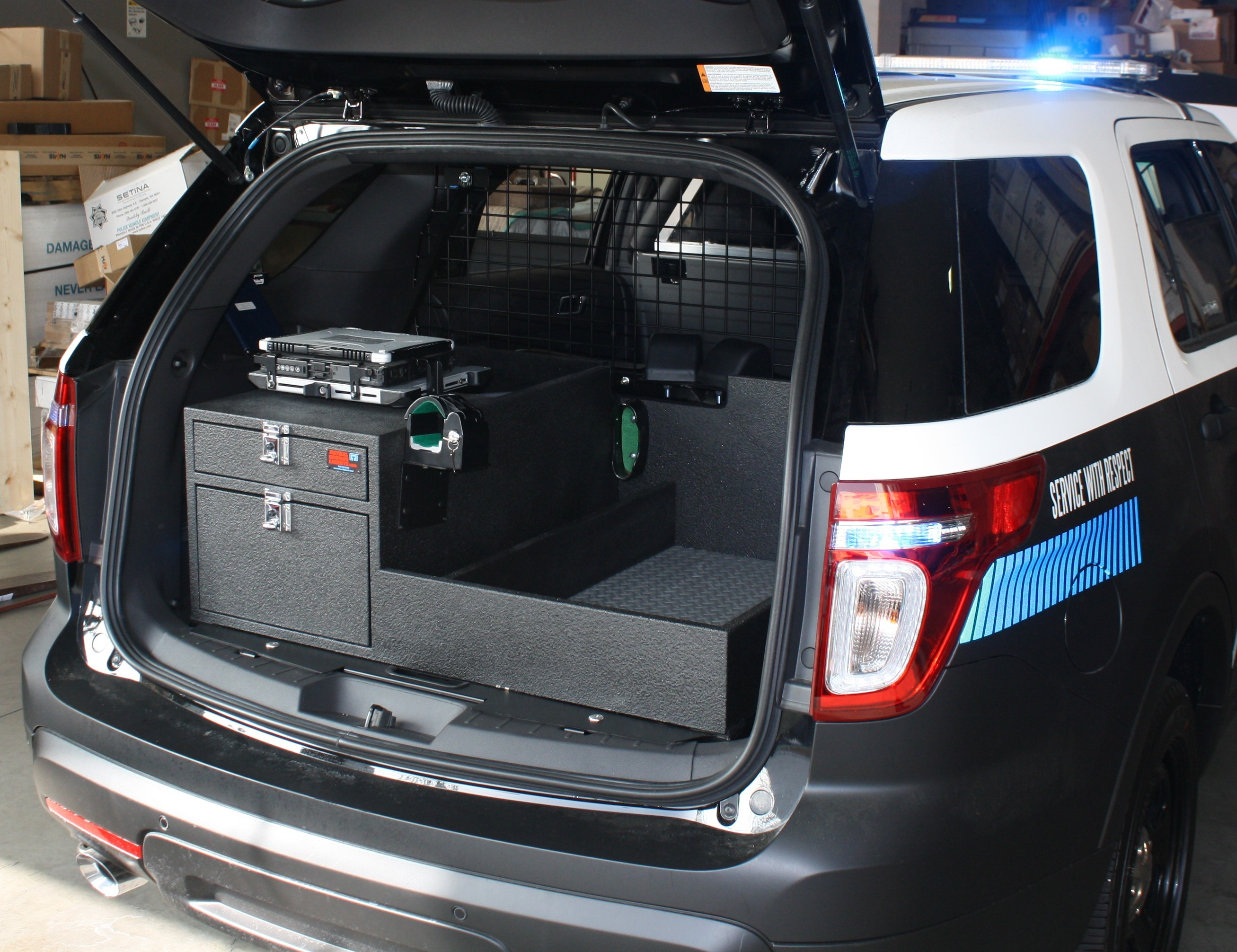 Police ford explorer cabinet storage