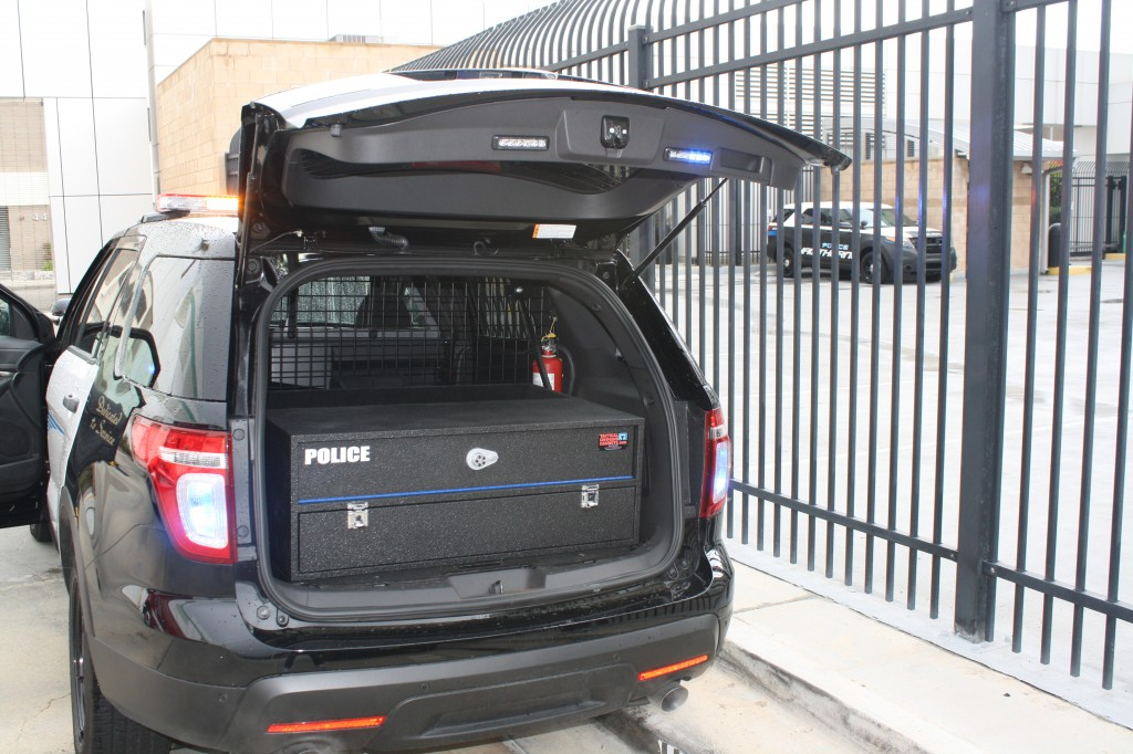 ford explorer police gun box & line-x coated sports utility vehicle cabinets police tactical ... Aboutintivar.Com