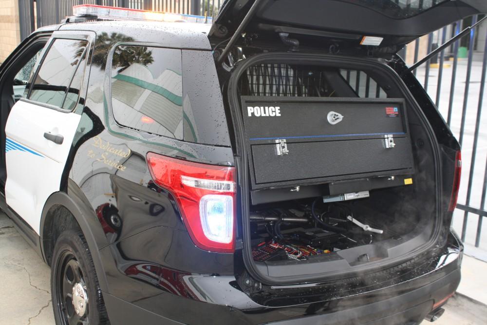 Ford Explorer police interceptor, storage solutions