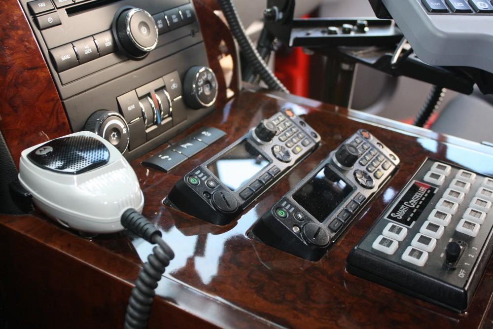 fire department radio console suv