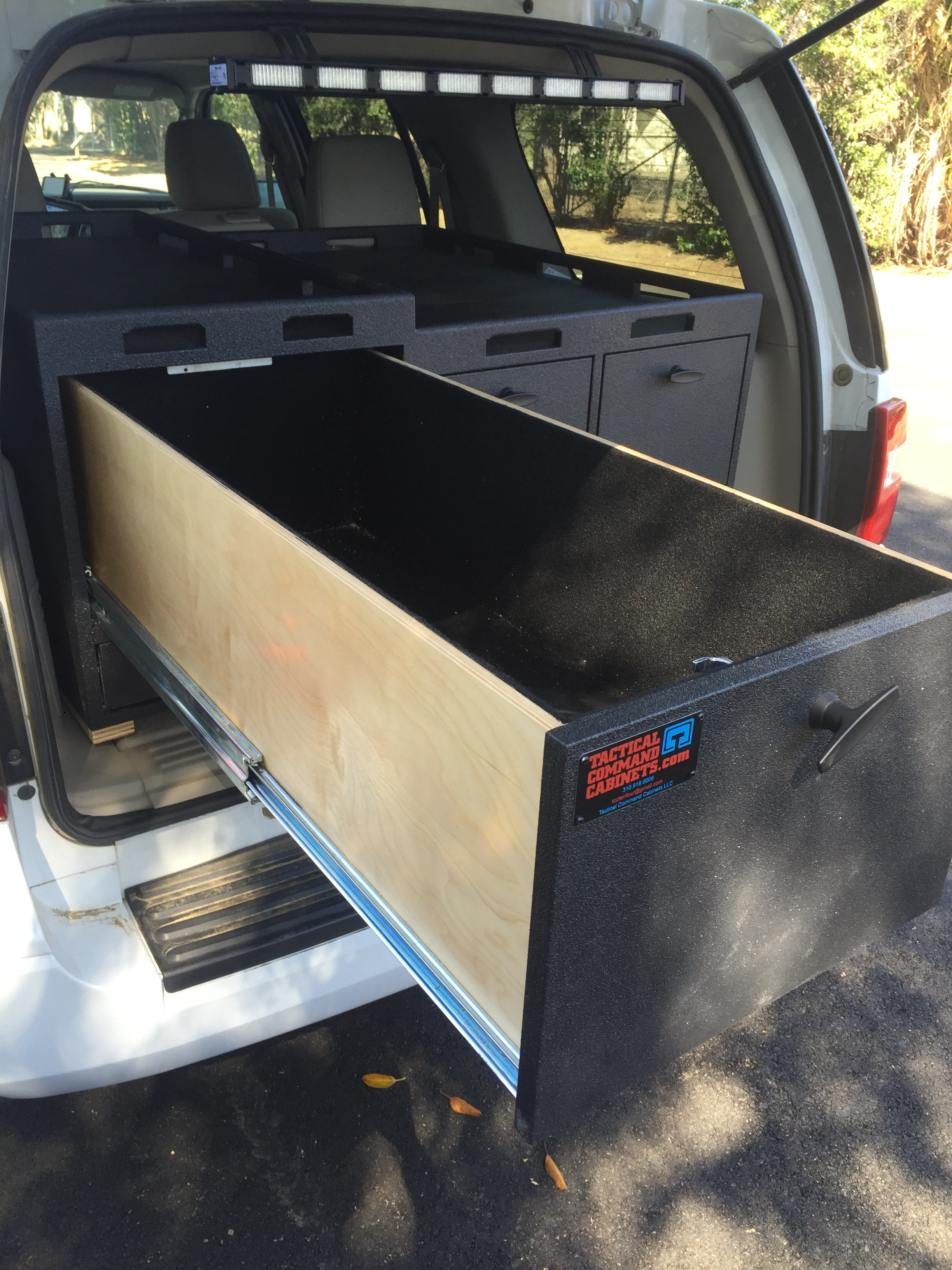 Tactical cabinet for rear of Ford Explorer