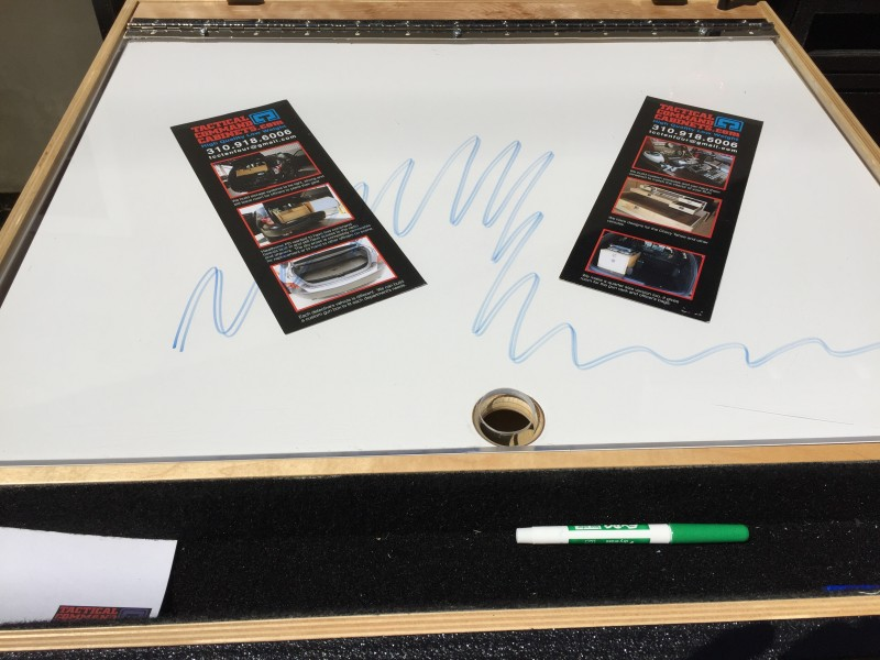 Police Map Drawer and dry erase board