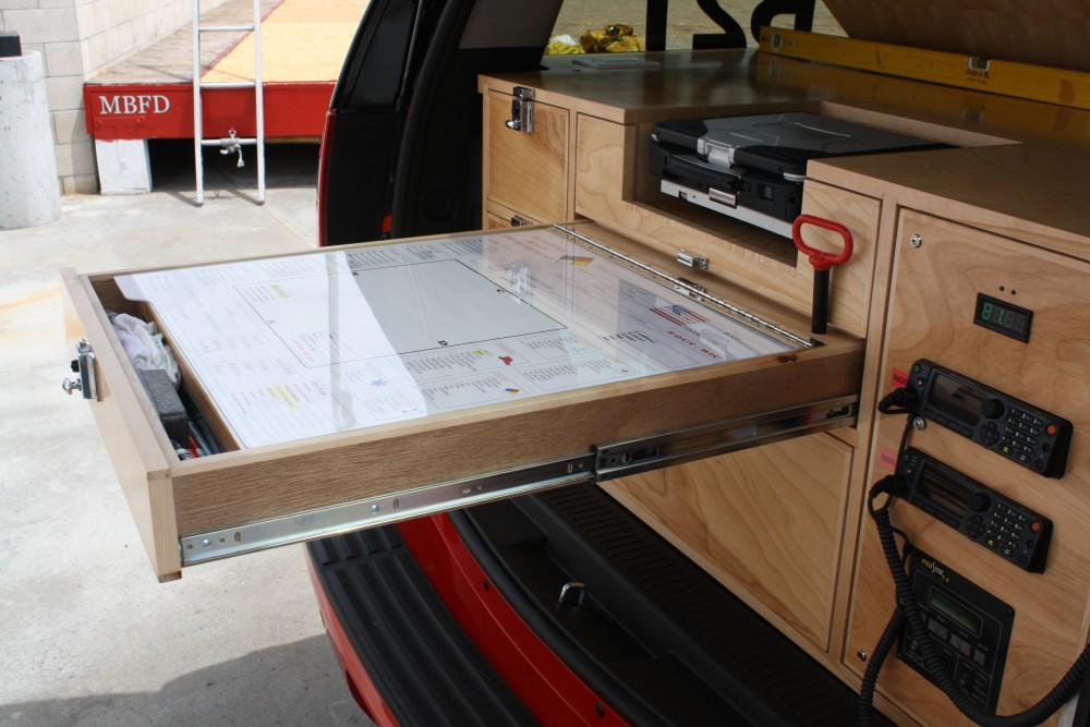 Map drawer command cabinet