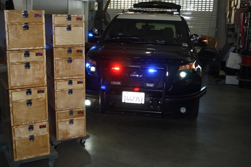 police vehicle storage boxes