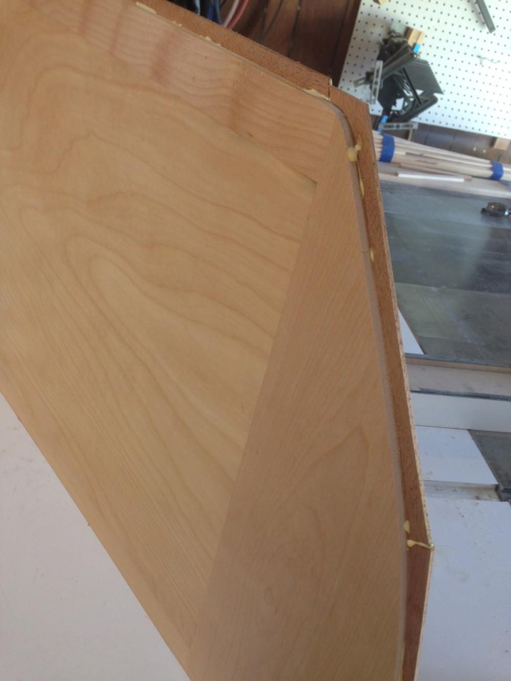 glueing a dry erase board