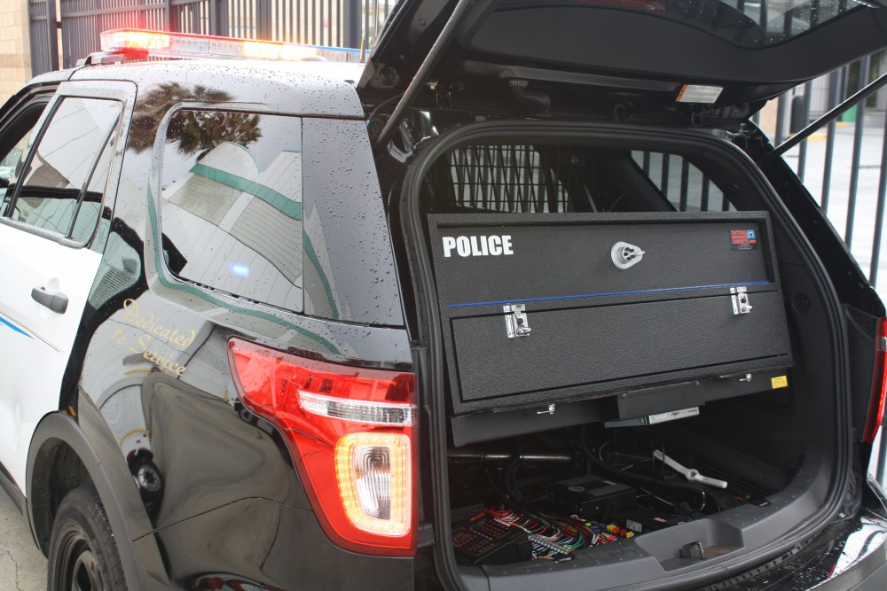 police ford explorer gun cabinet