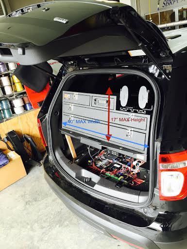 SUV rear storage for law enforcement